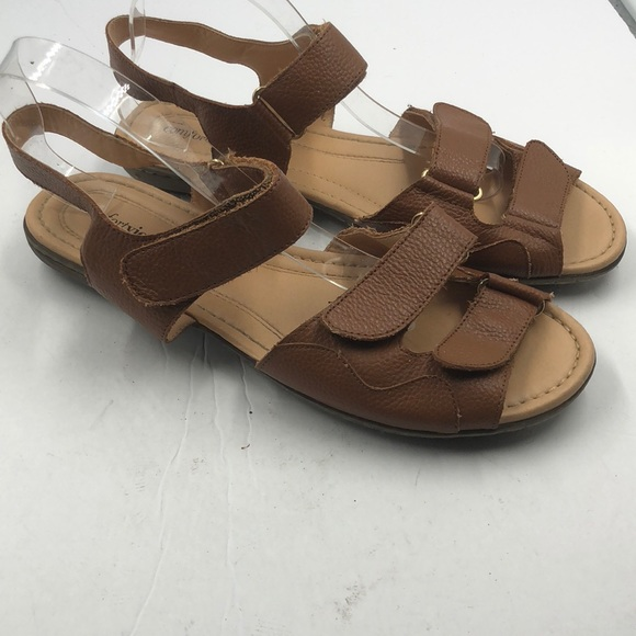 2a7b68b7a Comfortview Shoes - Comfortview Women s Leather Velcro Sandals 12 12ww
